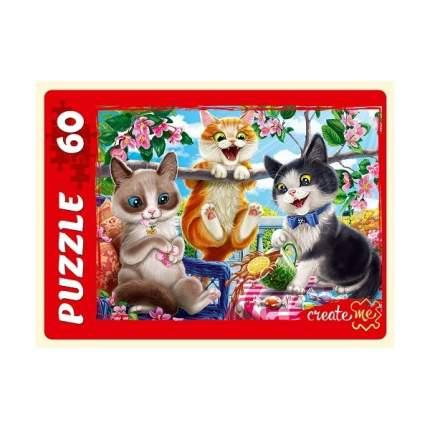 Пазлы Забавные котики №4, 60 элементов Рыжий кот