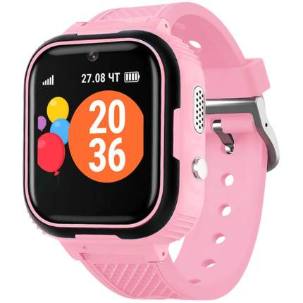 """Смарт-часы GEOZON G-Kids Junior, 44мм, 1.44"""", черный/розовый / розовый"""
