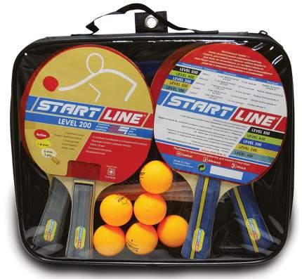 Набор для настольного тенниса Start line Level 200 4 ракетки 6 мячей+сетка