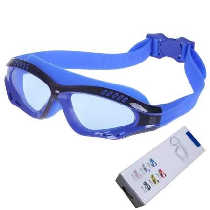 R18013 Очки-маска для плавания с берушами (сине/черные)