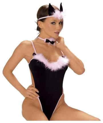 Игровой костюм кошечки Cat Uniform L-XL черный с розовым