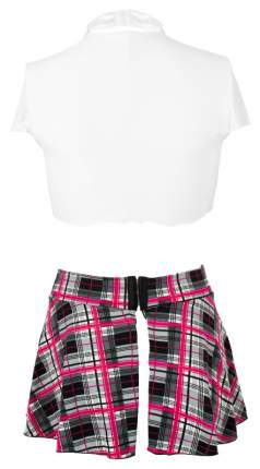 Игровой костюм Ajsle: школьная юбка и топ с галстуком XL серая шотландка