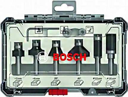 Набор кромочных фрез Bosch 8мм, 6шт 2607017469