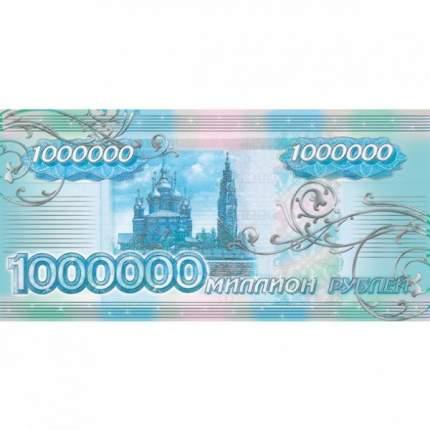 Открытка-конверт для денег. Hatber. 169х84мм. 3D Фольга. 1 миллион рублей
