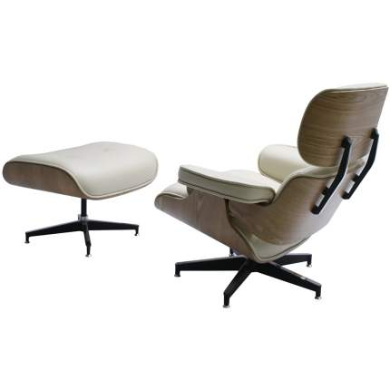 Кресло Bradex Home EAMES LOUNGE CHAIR и оттоманка EAMES LOUNGE CHAIR бежевые / FR 0596