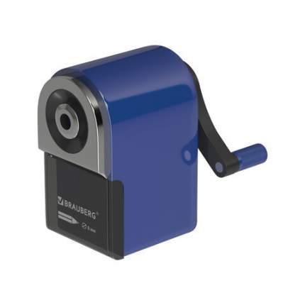 Точилка механическая BRAUBERG ORIGINAL для чернограф и цв карандашей корпус синий 228480