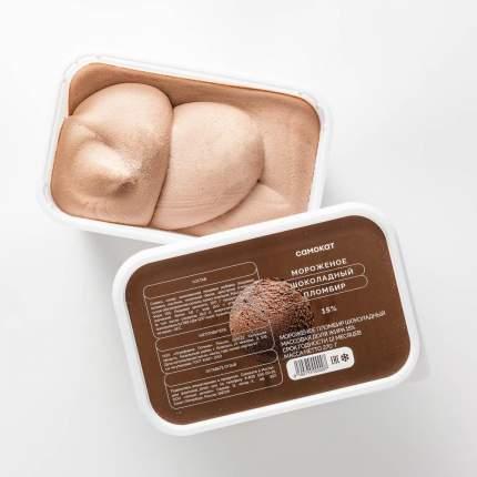 Мороженое Самокат пломбир; шоколадный; 15%; 270 г