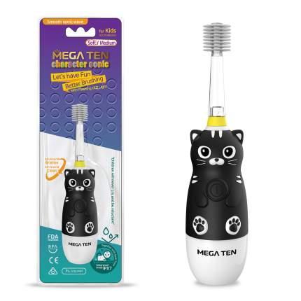 Электрическая зубная щетка Megaten Kids Sonic Котенок Black Edition