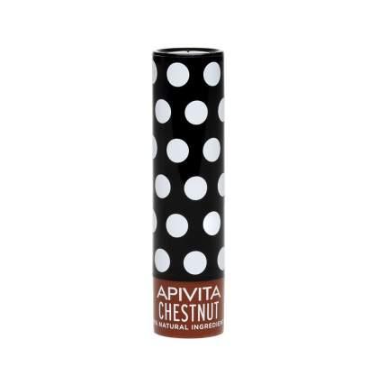 Увлажняющий уход для губ Apivita с оттенком Каштана