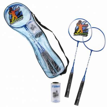 Игровой набор 1Toy 2 ракетки, 2 волана, металл, ручка дерево, сумка Т18126
