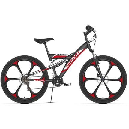 """Велосипед Bravo Rock 26 D FW 2021 16"""" черный/красный/белый"""