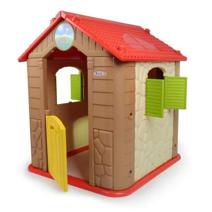 Детский игровой комплекс Haenim Toy HN-705 Brown+Red домик, столик, 2 стульчика, бизиборд