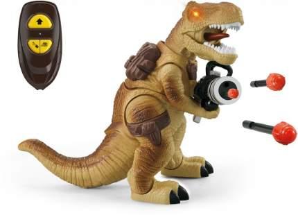 Радиоуправляемый коричневый динозавр Ти-Рекс (свет, звук, стреляет пулями), DT-6036-BROWN