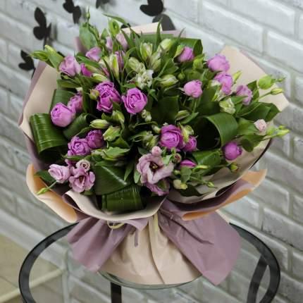 Букет FlorPro Кустовые розы альстромерии и эустома