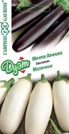 """Семена. Баклажан """"Мечта дачника"""" (вес: 0,1 г) + """"Молочник"""" (вес: 0,1 г)"""