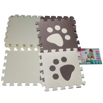 Коврик для детской Elefantino EVA, Лапка, 9 элементов, размер детали: 30*30 см, в пленке