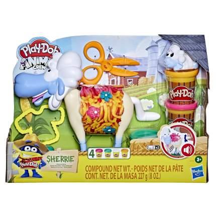 Набор для лепки Hasbro Play-Doh, Animals, Овечка, с массой для лепки и аксессуарами