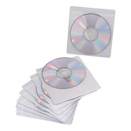 Конверты для CD/DVD BRAUBERG, 10 шт., на 1CD/DVD, самоклеящиеся, с европодвесом, 510197