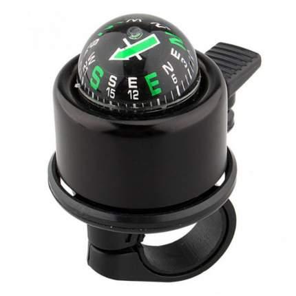 Велосипедный звонок с компасом Nuvo NH-B406APC - Черный