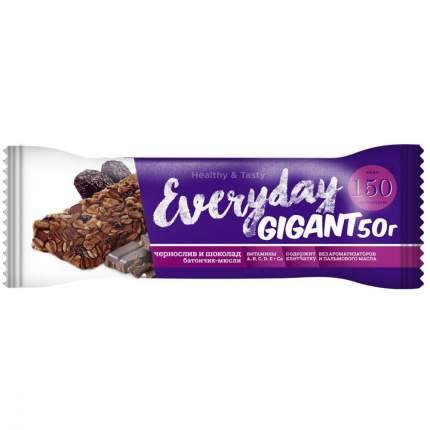 """Батончик фруктово-злаковый Everyday Gigant """"Чернослив и шоколад"""", 50 г"""