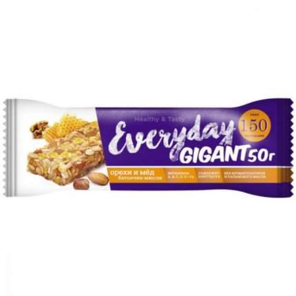 """Батончик злаковый Everyday Gigant """"Орехи и мед"""", 50 г"""