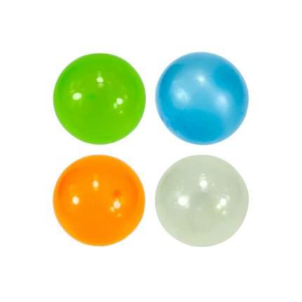 Игрушка-антистресс Globbles Набор 4-х мячиков липнущих светящихся