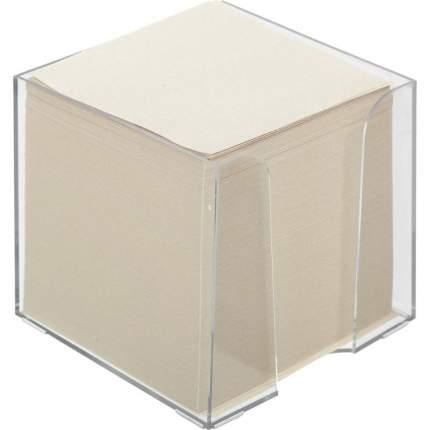 """Блок для записей в подставке """"Economy"""", 90х90х90 мм, белый"""
