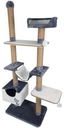 Комплекс для кошек Зооник, мех/пенька 110 х 47 х 190 см