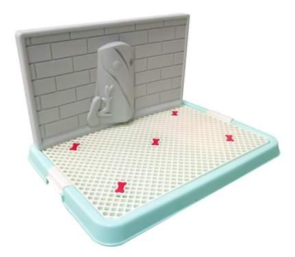 Туалет для собак V.I.Pet со стенкой, большой, зеленый, 67х52х29 см