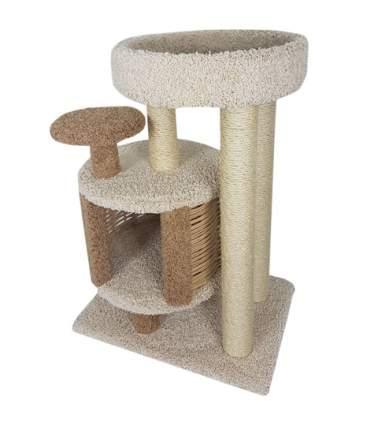 Домик для кошек Пушок Эдуська, бежевый, коричневый, 52x72x100см
