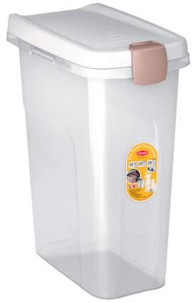 Контейнер для корма Stefanplast прозрачный с белой крышкой 15 кг 40 л