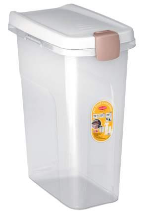 Контейнер для корма Stefanplast прозрачный с белой крышкой 10 кг 25 л