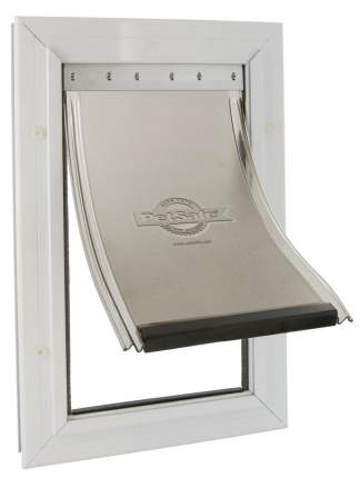 Дверца для кошки StayWell Aluminium XL алюминий, белая, 34,9 х 60,3 см