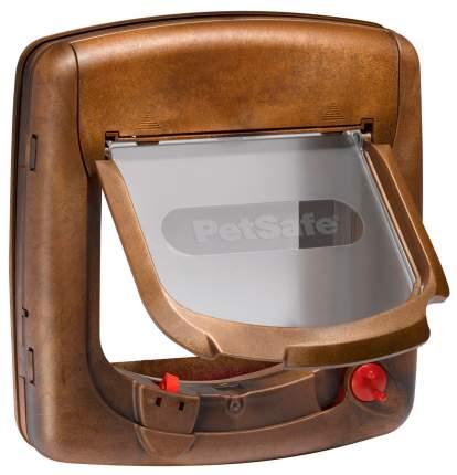 Дверца для кошки StayWell с магнитным замком коричневая 15 х 16,3 см