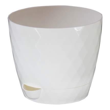 Цветочный горшок садовый Румба 111080 Белый