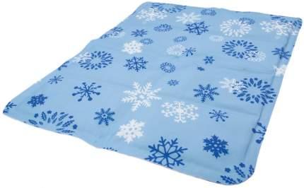Мат охлаждающий для собак ZooOne Снежный ПВХ, голубой, 50x40 см
