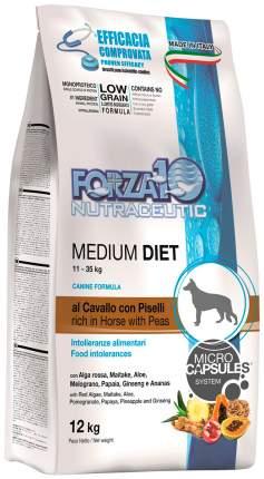 Сухой корм для собак Forza10 MEDIUM DIET, монобелковый, для средних пород,  конина, 12кг