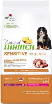 Сухой корм для щенков TRAINER Sensitive PUPPY & JUNIOR, для крупнаых пород, утка, 12кг