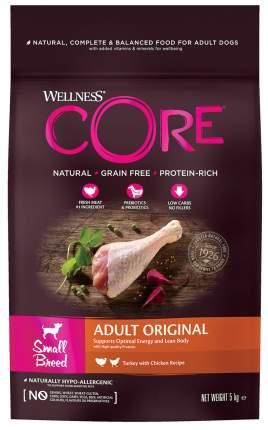 Сухой корм для собак Wellness CORE ADULT Original , для маленьких пород, индейка,  5кг