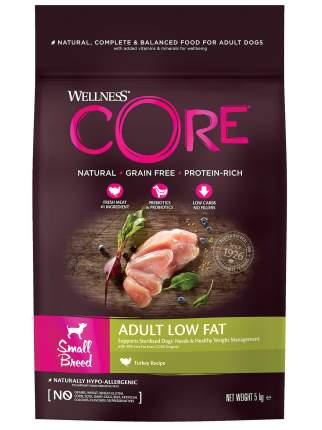 Сухой корм для собак Wellness CORE ADULT Low Fat, для маленьких пород, индейка,  5кг