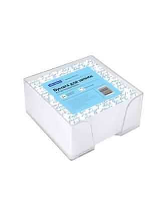 Блок для записи, 9x9x5 см, пластиковый бокс, белый, 500 листов