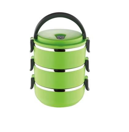 Термо ланч-бокс из нержавеющей стали, 2,1 л (Цвет: Зелёный )