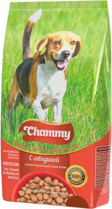 Сухой корм для собак Chammy Medium , говядина, 18кг