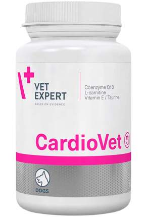 VETEXPERT КАРДИОВЕТ кардиопротектор для собак для поддержания функций сердца 90 таб