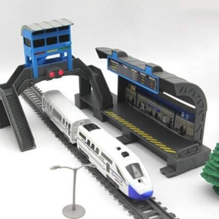 Железная дорога с пассажирской станцией, скоростной поезд, длина полотна 244 см, BSQ-2185