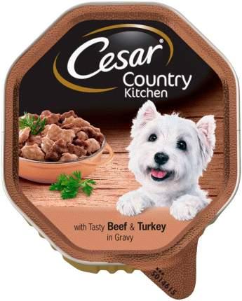 Влажный корм для собак Cesar COUNTRY KITCHEN , говядина, индейка, 14шт, 150г