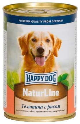Влажный корм для собак Happy Dog Natur Line , телятина, рис, 20шт, 410г