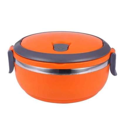 Термо ланч-бокс из нержавеющей стали, 700 мл (Цвет: Оранжевый )