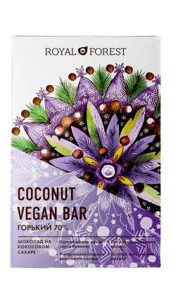 Веганский горький шоколад Royal Forest (70%) Vegan Coconut Bar