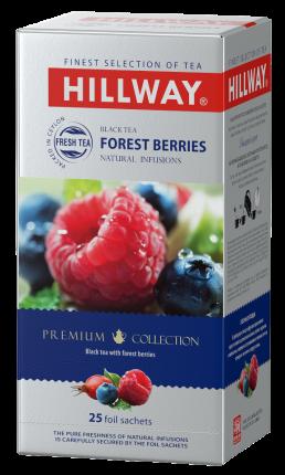"""Чай черный с кусочками фруктов и ягодFOREST BERRIES т.з. """"HILLWAY"""" в сашетах 1,5г*25*12"""